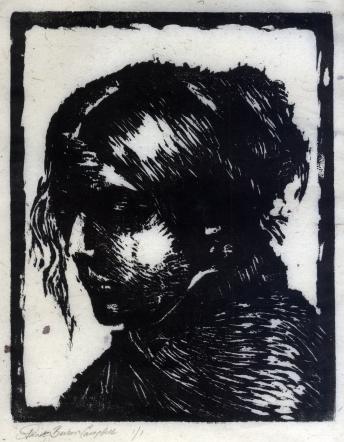 The Frenchman's Wife-woodcut
