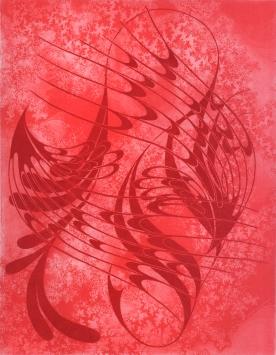 Wind Harp in Rose w Fractals-Solar Etching
