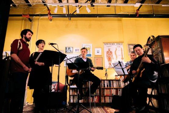Pablo Helguera performes at Libreria Donceles opening night at Project Urbano